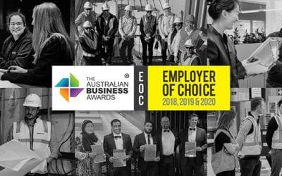 Three-peat! Buildcorp wins third Employer of Choice Award