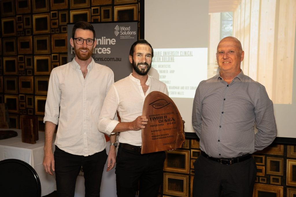 Buildcorp joins Architectus to accept the People's Choice Award